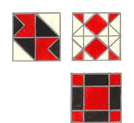 белый — красный — черный